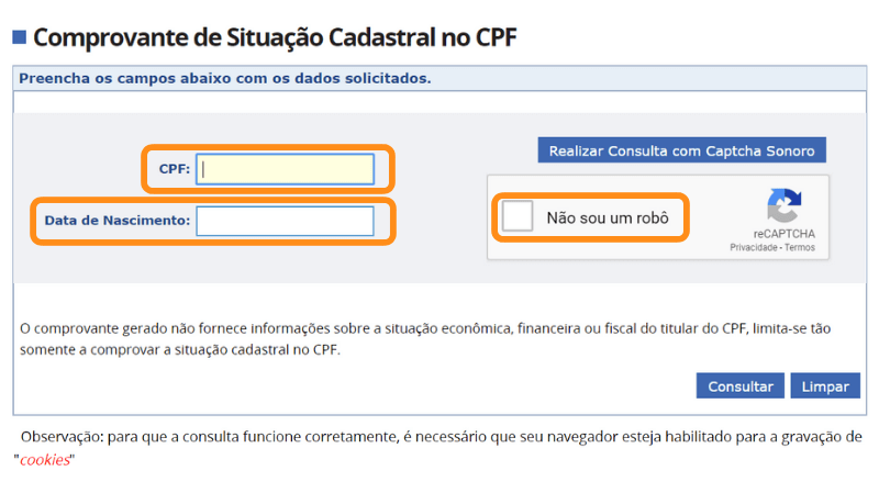 Consulta CPF Grátis - Tela de Pesquisa