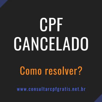 cpf cancelado