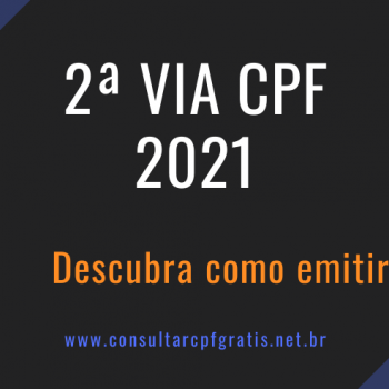 2 via cpf 2021